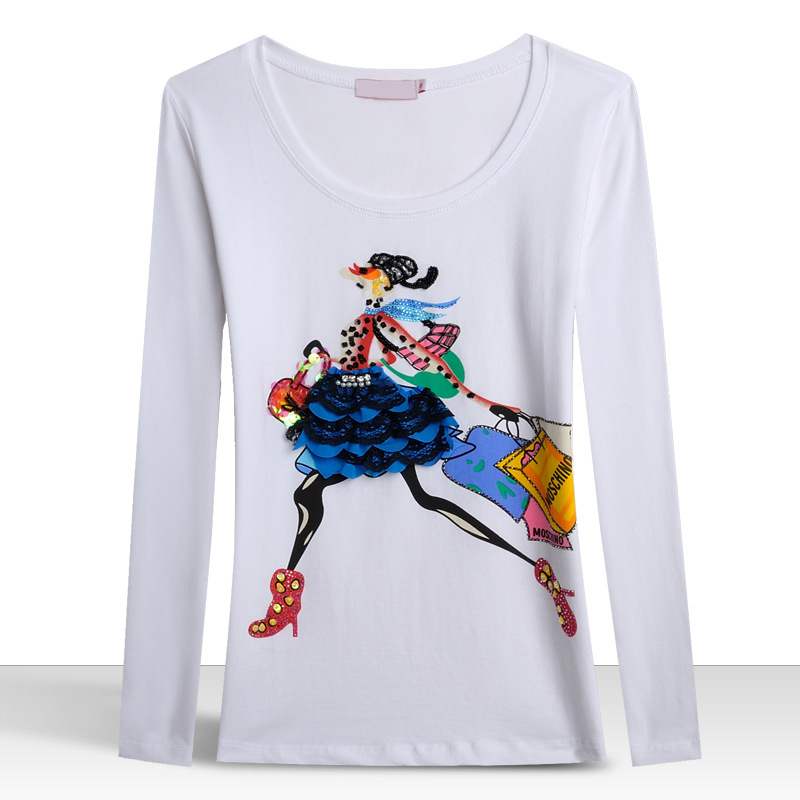 2015 Frida Kahlo Cartoon Pattern Luxury T Shirt Women