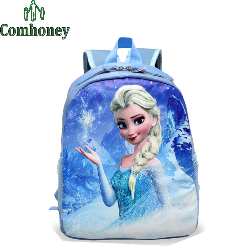Girls Schoolbags Snow Queen Princess Sofia Backpack for School Dora Totoro Pokemon Backpack for Children's School Backpack Kids(China (Mainland))