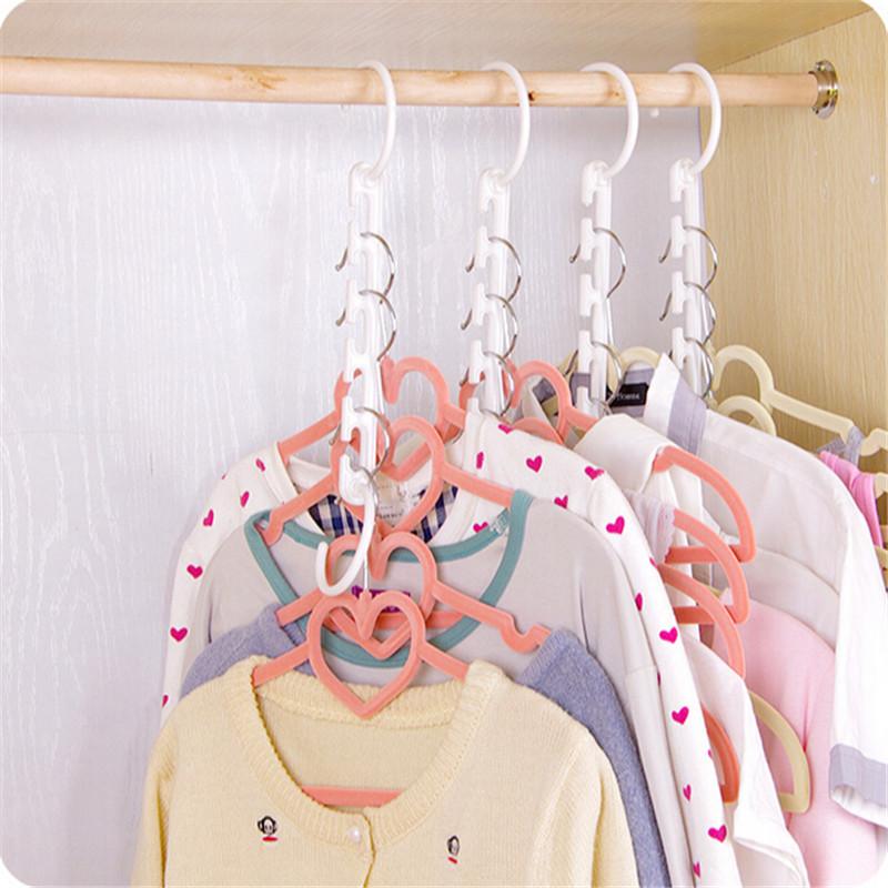 Gratis Verzending 1 stks 3D Ruimtebesparend Hanger Magic Kleerhanger met Haak Closet Organizer Thuis Tool(China (Mainland))