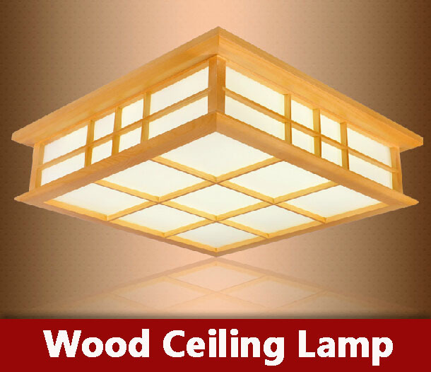Modern LED Wood Ceiling lamp Korean garden style Indoor light for Home Bedroom Lamps foyer room Lamp fixture lampshade lighting(China (Mainland))
