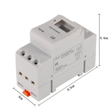 Buy AC 12V 24V 110V 220V Digital LCD Power Timer Programmable Time Switch Relay 16A GOOD temporizador Din Rail for $7.11 in AliExpress store