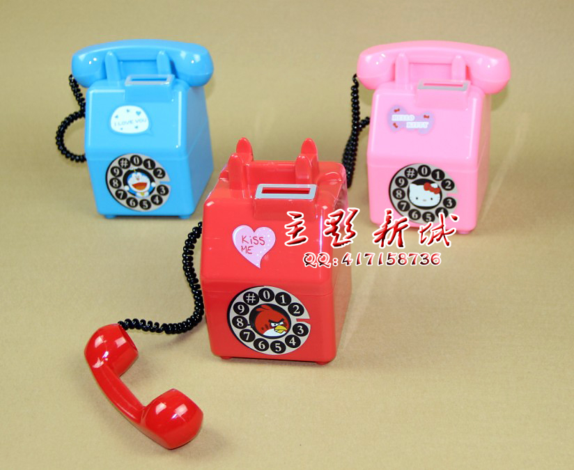 The New Retro gifts phone piggy bank savings took pictures children photography prop telephone 0.3KG<br><br>Aliexpress
