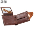 Coin Bag zipper wallet with pocket photo window men wallets Quality Guarantee Leather purse multifunction wholesale