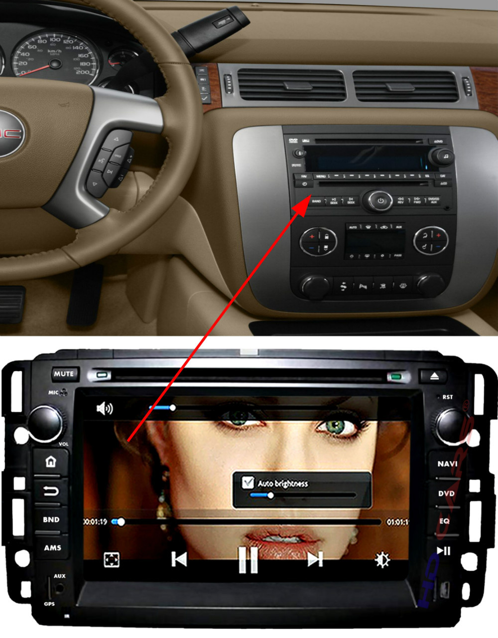Fit for GMC Yukon Tahoe CHEVY SILVERADO SIERRA (07-12) Capacitive Multi-Touch Android 4.4.2 CAR DVD PLAYER with gps(China (Mainland))
