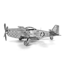 Buy 3D Metal Puzzle P-51 Mustang Aircraft Jigsaw Puzzle DIY Assemble Model IQ Toys Stainless Steel Educational Kids Toys for $2.79 in AliExpress store
