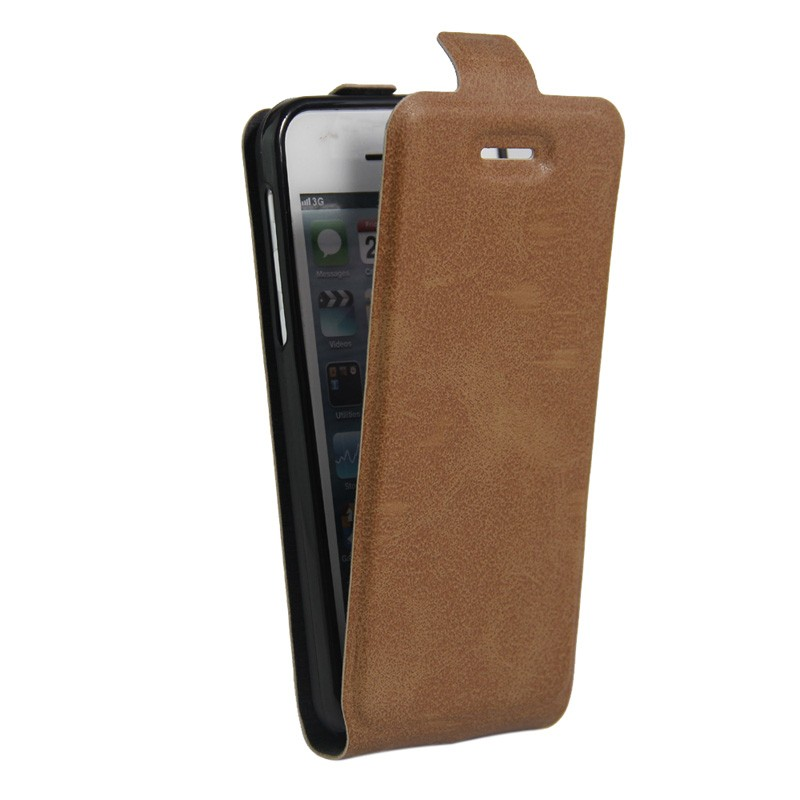 High Quality Mobile Phone Luxury PU Leather Flip Case for Apple iPhone SE 5/5S Up-Down Open Full Protective Cases