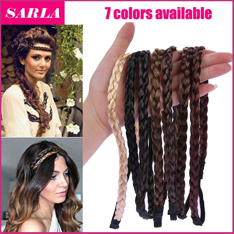 1PC Elastic Hairband Women Wig Braid Braided Hair Accessories Head Band Hair Weaving Ring Rope Dance Headwear(China (Mainland))
