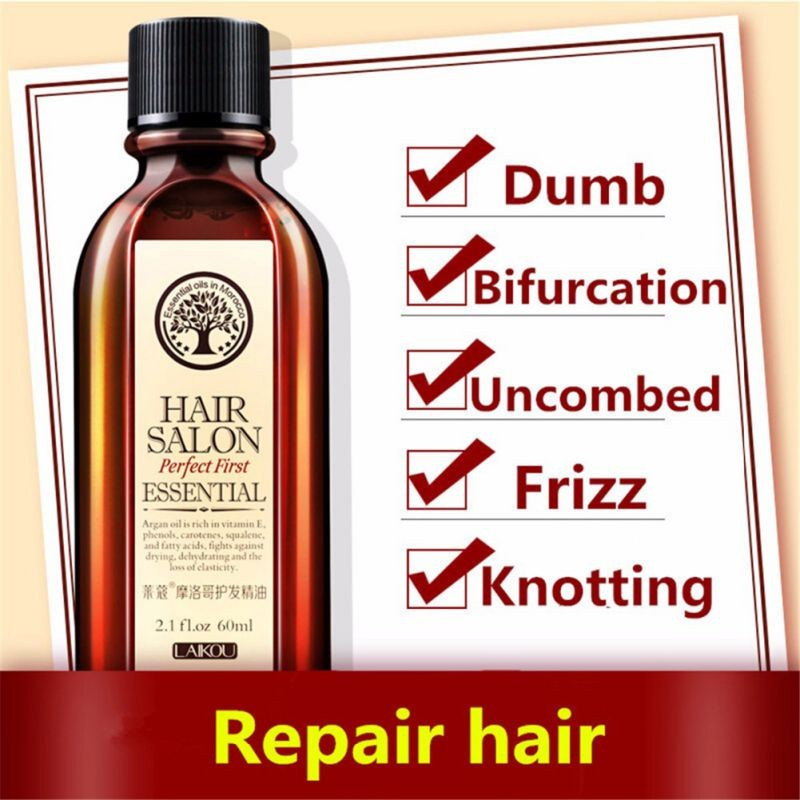 Hair Care Moroccan Pure Argan Oil Hair Essential Oil For Dry Hair Types TF