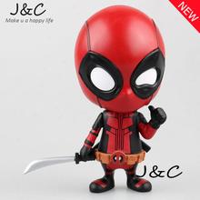 Бесплатная Доставка НОВЫЙ горячий! 10 см Super hero Лига Справедливости X-MAN Дэдпул Фигурку Игрушки Елочные Игрушки С Оригинальной КОРОБКЕ