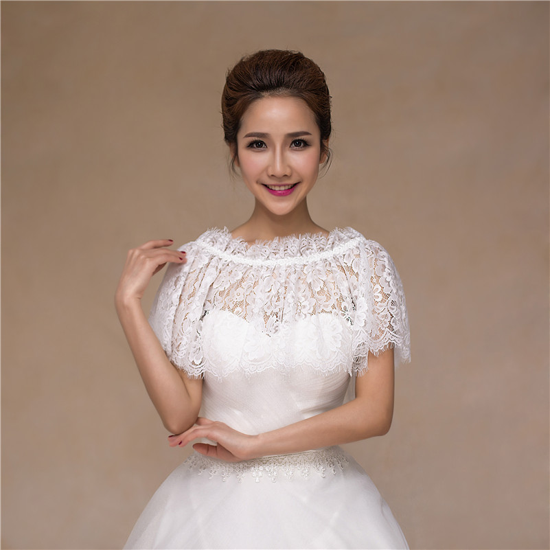 Wedding dress lace shrug junoir bridesmaid dresses for Wedding dress lace bolero
