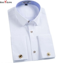 Buy BIANYILONG Men French Cuff links Shirt 2017 New Long Sleeve Casual Male Brand Slim Fit French Cuff Marry Dress Men Shirt for $13.74 in AliExpress store