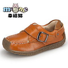 Aokang children shoes male 2013 autumn genuine leather male leather child snail shoes(China (Mainland))