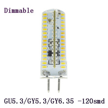 5x GU5.3 GY5.3 GY6.35 9w 120LED Bulb Lamps 220V Silicone Crystal Corn Lamp light Tubes For Home Lighting Dimmable(China (Mainland))