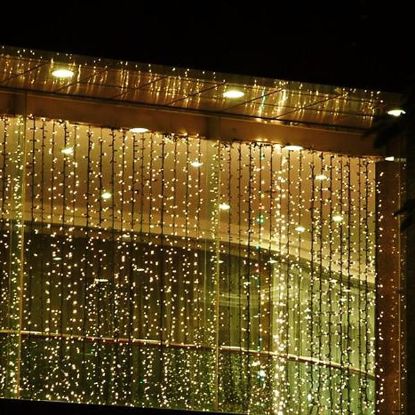 3Mx3M 300LED Outdoor Christmas String Fairy Wedding Curtain Light  220V  on Promotion<br><br>Aliexpress