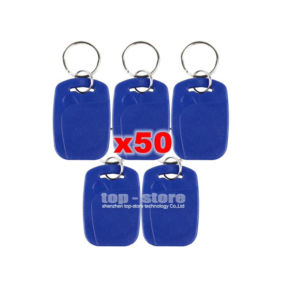 50pcs/lot Plastic125Khz RFID Card Keyfobs for Access Control System Or Other Smart RFID Reader Door Key(China (Mainland))