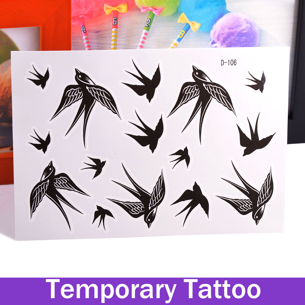 Waterproof Body Art Sexy Temporary Tattoos Sticker Stickers Removable Hot The Trend Of The Swallow Tattoo