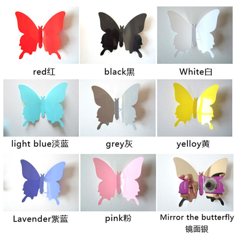 1 Vinyl Magnetic 3D Butterfly FArt Design Decal Wall Sticker Home Decor Room Decorations - FanGuo International Trade Co., Ltd store