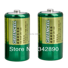 Wholesale GP 2Pcs size C 1.5V Carbon-zinc Battery Green  Freeshipping(China (Mainland))