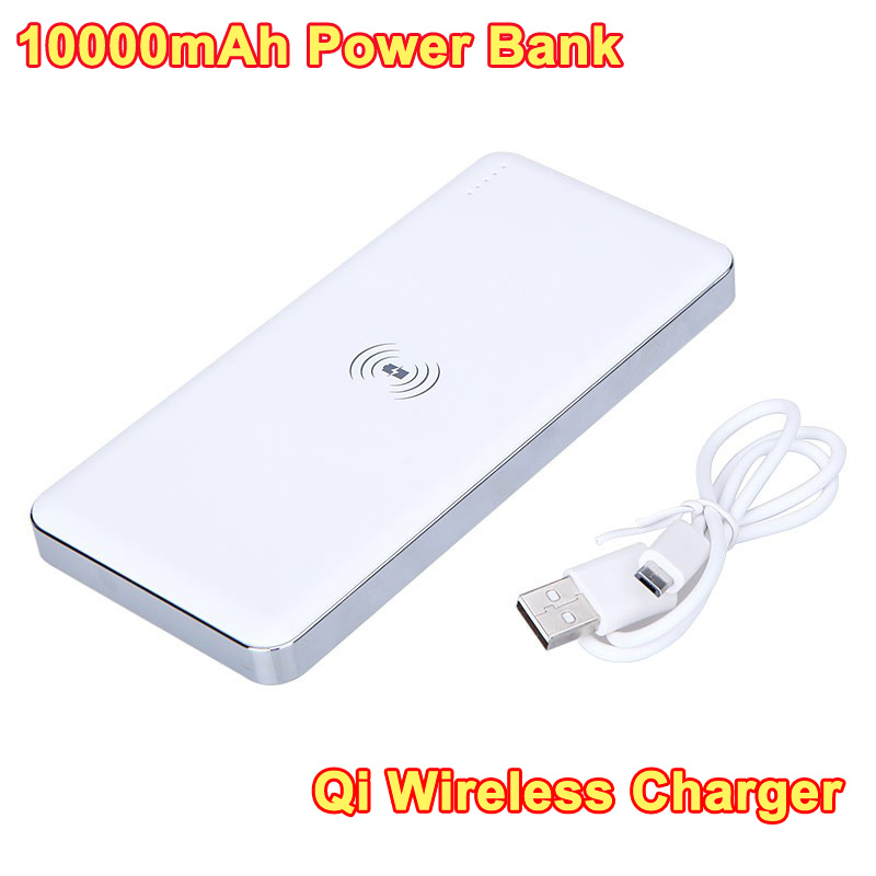 10000mAh Rechargeable Battery Qi Wireless Charger Power Bank Transmitter Dual USB Charging Pad Powerbank For Cell Phones(China (Mainland))