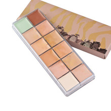 New Makeup naked 12 colors Natural Face Concealer Palette Cosmetics  3 generation make up set