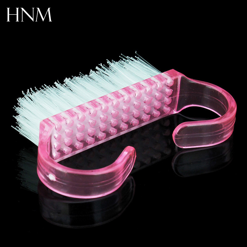1Pcs Nail Art Plastic Cleaning Brush Finger Nail Care Dust Clean Handle Scrubbing Brush Tool File Manicure Pedicure FreeShipping(China (Mainland))