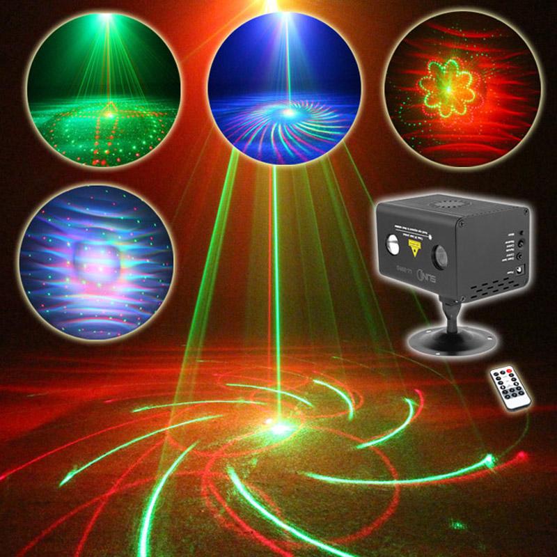 SUNY Remote 20 Patterns RG Led DJ Laser Stage Lighting Effect Galaxy RGB LED
