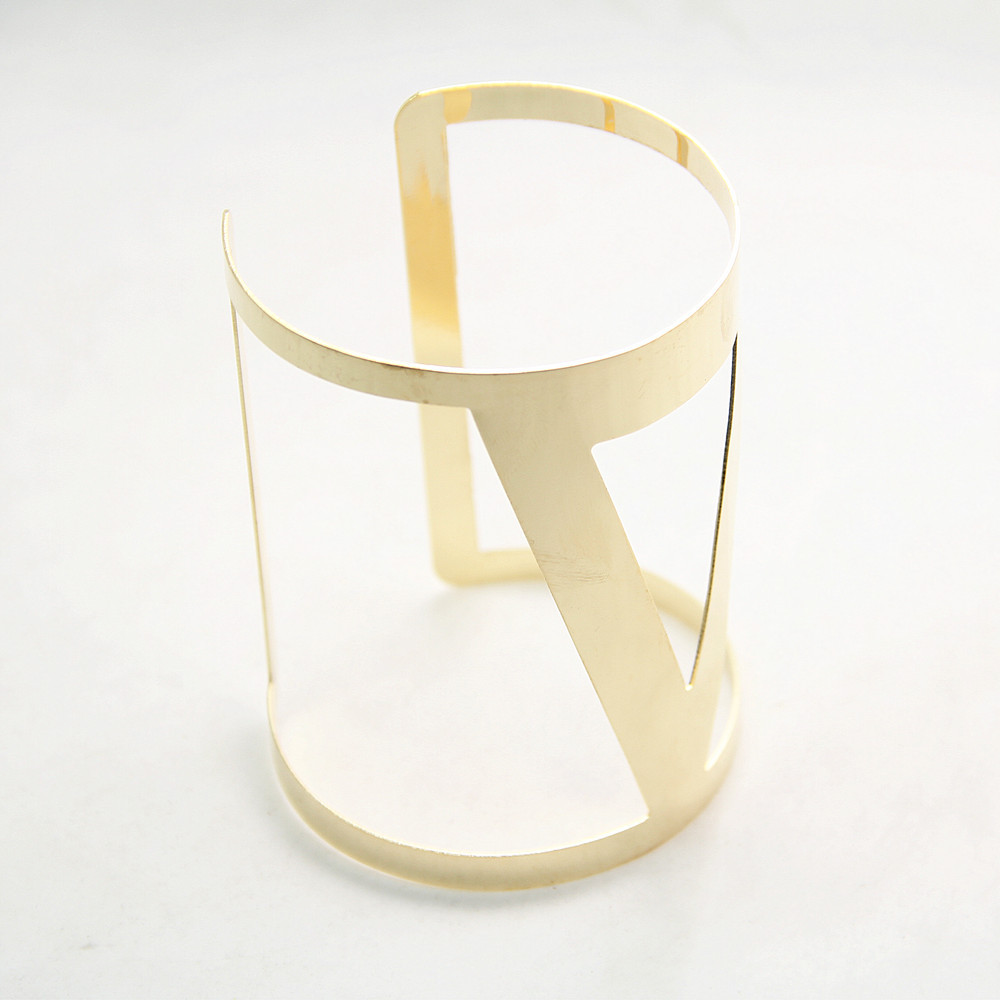 Gold Tone Triangle Hollow Cuff Bracelet Pulseiras Bracelet for Woman CB064(China (Mainland))