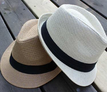 New breathable sun hats for men fashion volleyball beach straw bucket hat for boating chapeu floppy(China (Mainland))