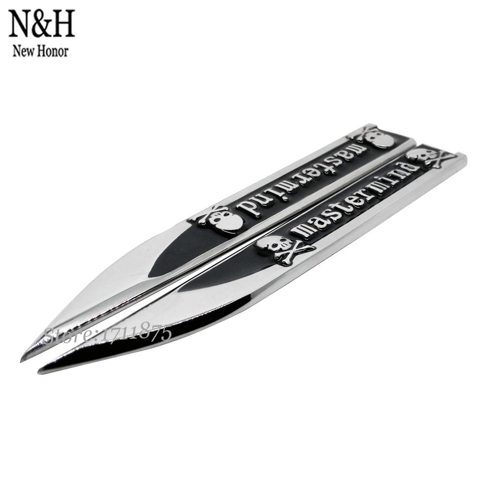Car Decal Sticker Fender Side Metal Emblem Badge Sticker Auto Accessories For TRANSFORMERS SPORT Mastermind Skull Evil Umbrella(China (Mainland))