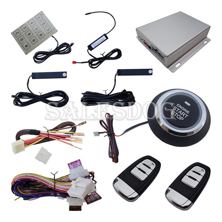 Multiple-Function Passive PKE Car Alarm System Smart Key Keyless Entry Push Button Start & Hopping Code Stock In USA & Australia(China (Mainland))