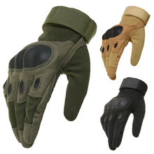 OK Brand Wear Military Tactical Army Full(Half) Finger Airsoft Combat Carbon Hard Knuckle Guard Leather Gloves Free Shipping(China (Mainland))