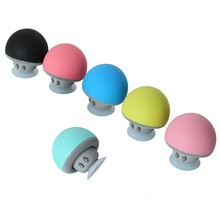 2016 Popular Cute Hands Free Bluetooth Speakers With Mic Suction Cup Stereo Subwoofer Speaker Mushroom