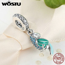 Buy WOSTU 100% 925 Sterling Silver Tropical Parrot Charm Beads Fit Original Pandora Bracelet Pendant Authentic Fine Jewelry for $9.95 in AliExpress store