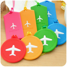2pcs/Lot Korean Cute Travel Luggage Tag Labels Round Rectangle Shape Silicone Luggage Tags For Bag (China (Mainland))
