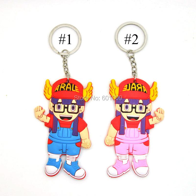 Free Shipping 20/Lot Anime Cartoon Dr.Slump Arale Figure Keychain Pendants Doll Toy(China (Mainland))