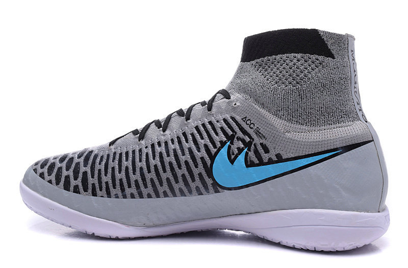 New 2015 Chaussure Foot Magista Obra IC Indoor Soccer Shoes high ankle zapato de futbol chaussure foot Grey Football Shoes(China (Mainland))