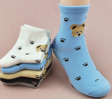 2016  feet with bear head cotton many colors baby cotton breathable antibiosis cartoon cute children short socks(China (Mainland))