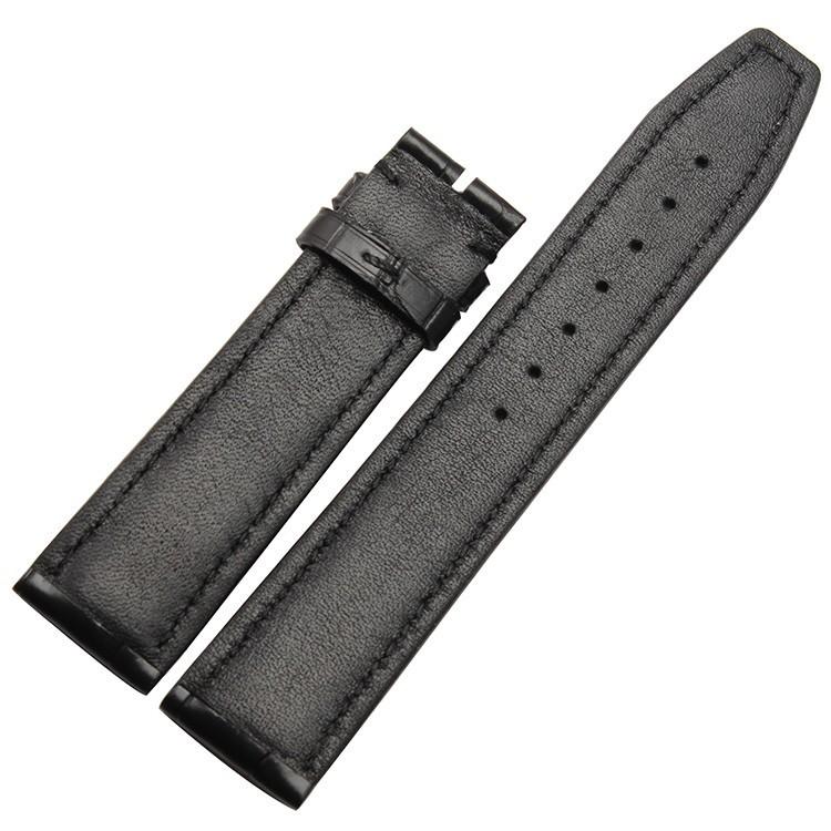Аллигатор Кожи Ремешки Ремни Для Мужчин наручные Часы Аксессуары 20 мм 21 мм 22 мм черный коричневый Высокое Качество Часы браслеты