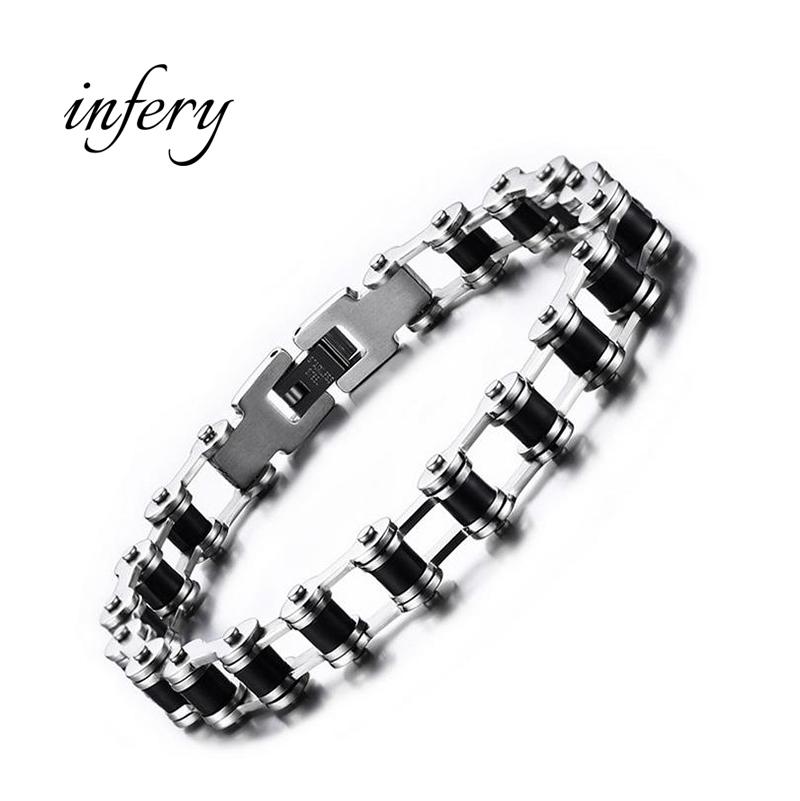 Infery Fashion Stainless Steel Bike Bracelet Men Biker Bicycle Motorcycle Chain Bracelets Bangles Jewelry 5J019(China (Mainland))