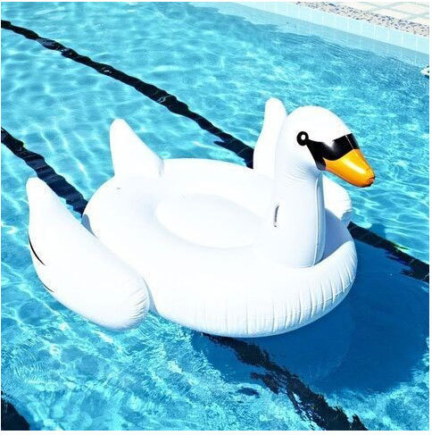 Summer Hot Giant Swan 60 inch 1.5m Inflatable Ride-On Pool Toy Float Swan Inflatable Swim Ring(China (Mainland))