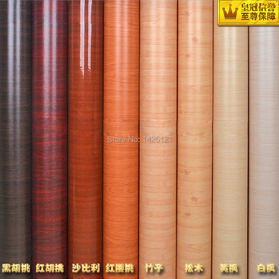 Modern wood wallpapers for furniture refurbished wall sticker self adhesive wallpaper film wardrobe door decor stickers 0.6*5m(China (Mainland))