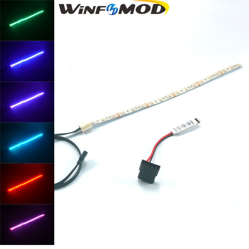 WinfMOD Computer Case RGB Full Color LED Lighting with RGB MINI 3-Key Controller ----- 300mm(China (Mainland))