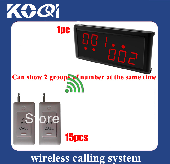 Hospital pager bell system catering business of 1 Display pager and 15 transmitters K-B for patient free shipping free(China (Mainland))