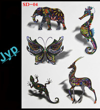 3d tattoo women sex products Colorful animal pattern Temporary Tattoo body art flash tattoos