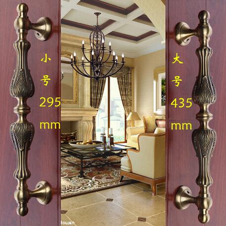 2 pcs free shipping Door shake handshandle european-style villa door shake handshandle archaize wooden door handle  KD-8006S<br><br>Aliexpress