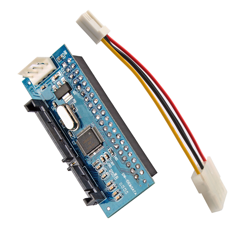 2x SATA-IDE card 7+15p 22pin SATA male to IDE PATA 40Pin Female JM20330 adapter #79965(China (Mainland))
