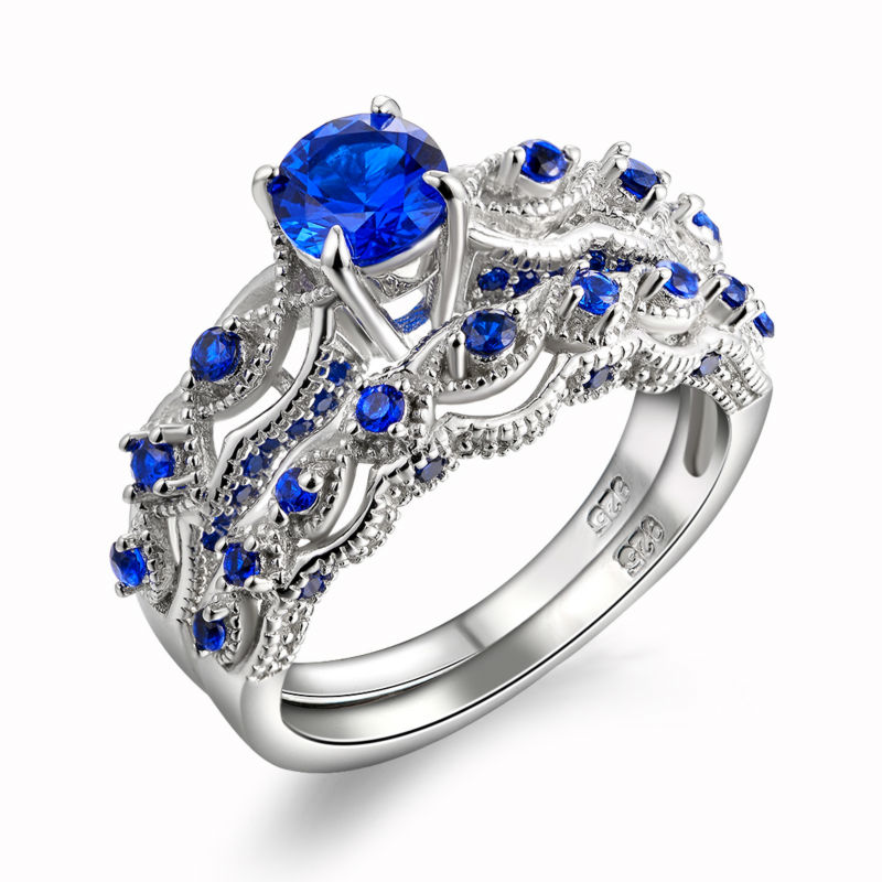 High Quality Cz Engagement Ring Sets