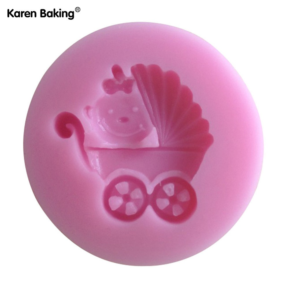 Baby Carriage Shower Party Silicone Mold Soap,Fondant Baby Mold,chocolate Mold Cupcake -C093(China (Mainland))