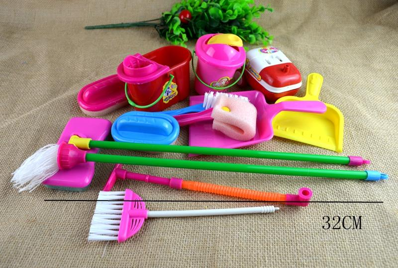 Cleaning Broom Tools Brush Cleaner Pretend Play Toys for Girl Doll Accessories(China (Mainland))