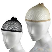 NEW 2pcs Unisex Stocking Wig Liner Cap Snood Nylon Stretch Hairnets Mesh Black Nude Women Men